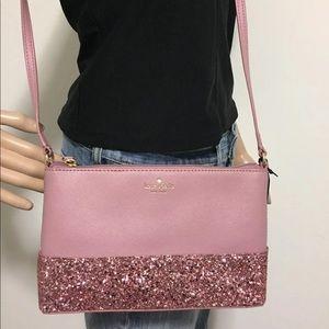 Kate spade pink glitter crossbody shoulder bag